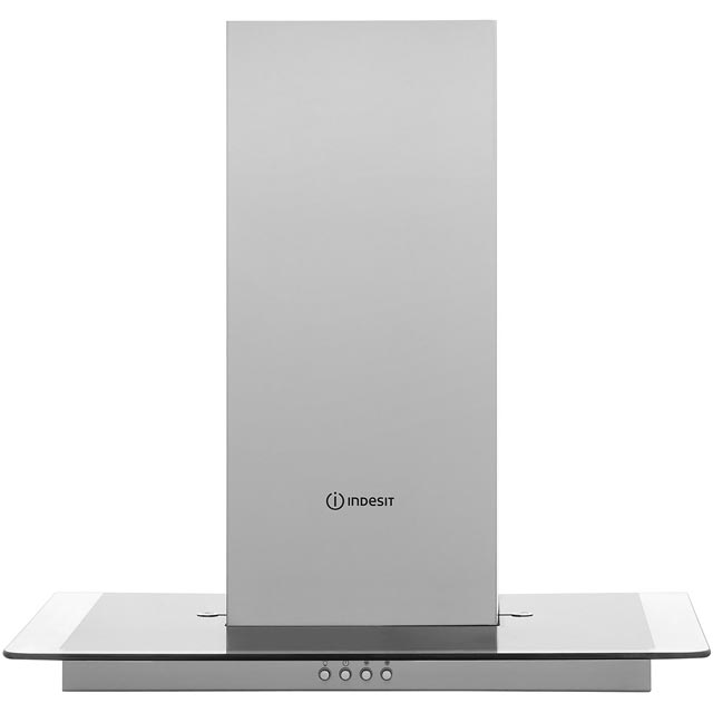 Indesit 60 cm Chimney Cooker Hood - Stainless Steel - D Rated
