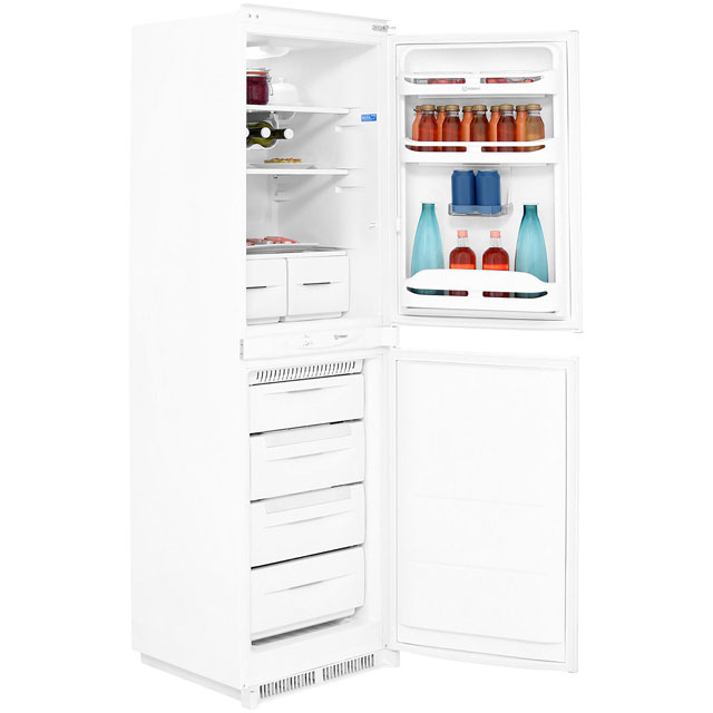 Indesit Integrated 50/50 Frost Free Fridge Freezer with Sliding Door Fixing Kit - White - A+ Rated