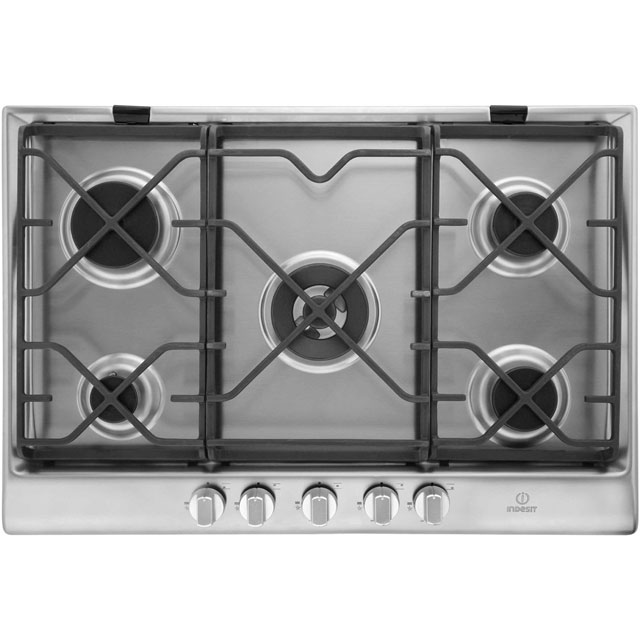 Indesit Prime IP751SCIX 75cm Gas Hob - Stainless Steel