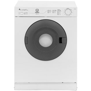 Indesit IS41V 4Kg Vented Tumble Dryer - White - C Rated - IS41V_WH - 1