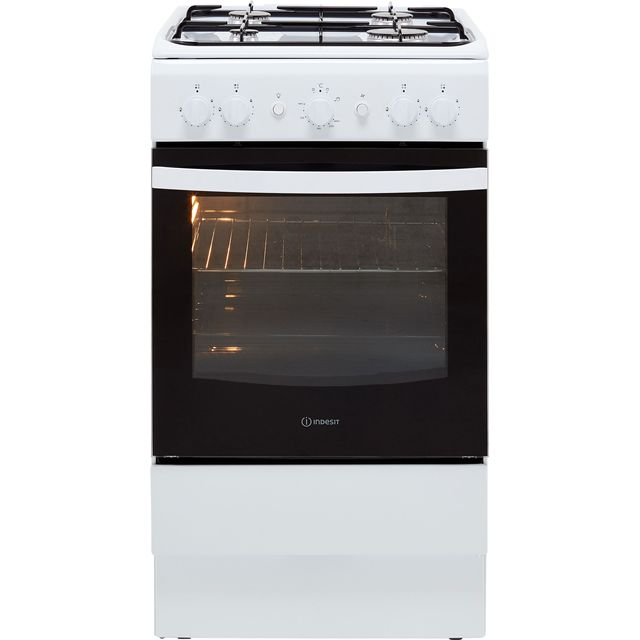 Indesit Cloe IS5G1KMW Gas Cooker - White - IS5G1KMW_WH - 1