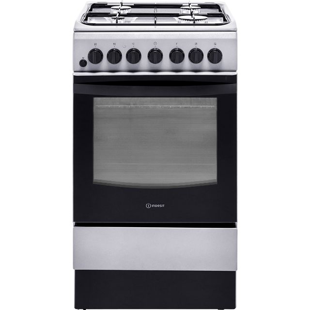 Indesit Cloe IS5G4PHX 50cm Dual Fuel Cooker - Silver - A Rated