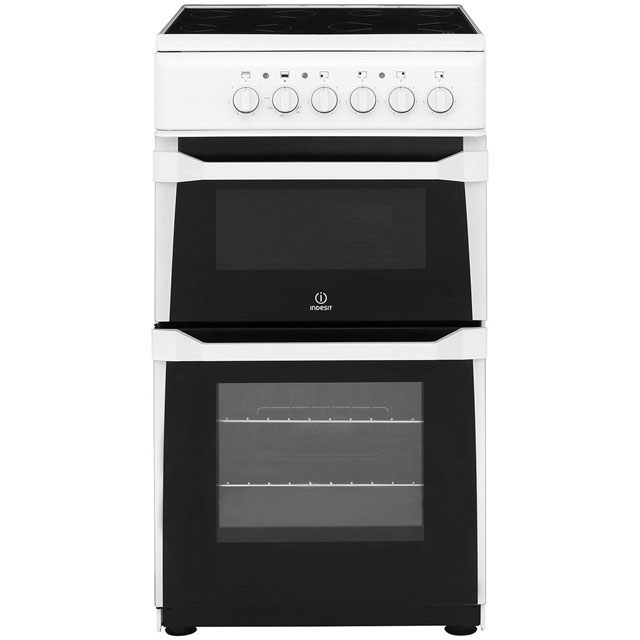 Indesit Advance Electric Cooker with Ceramic Hob - White - B Rated