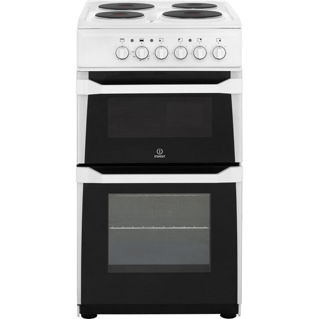 Indesit Advance Electric Cooker with Solid Plate Hob - White - B Rated