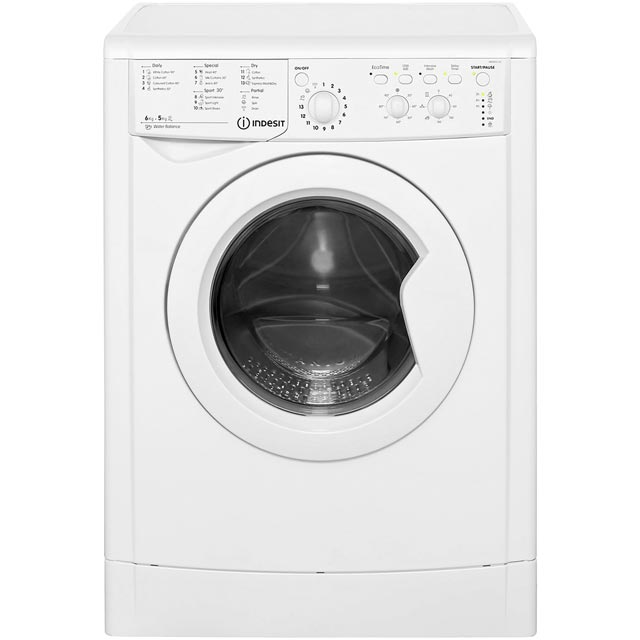 Indesit Eco Time IWDC6125 6Kg / 5Kg Washer Dryer with 1200 rpm - White - B Rated - IWDC6125_WH - 1