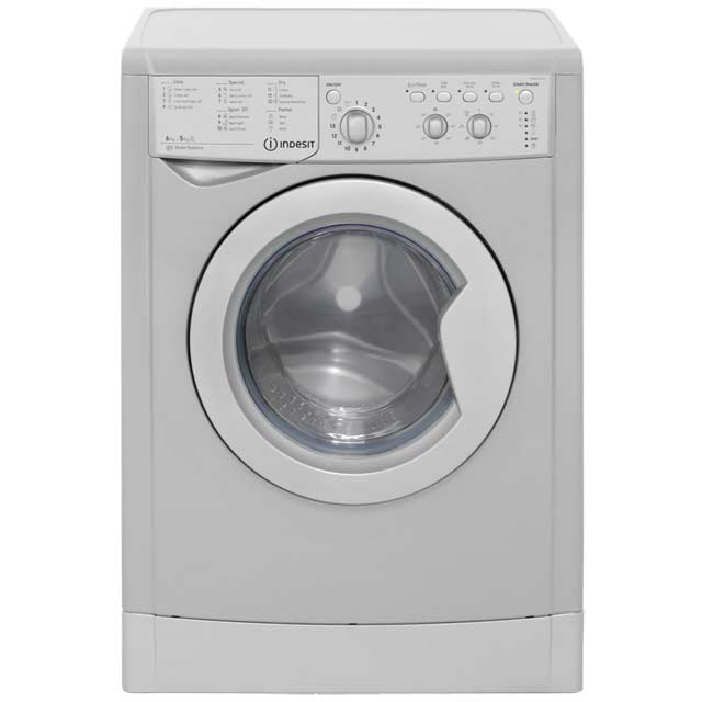 indesit iwdc6125s eco time free standing 6kg 1200 spin washer dryer silver new ebay. Black Bedroom Furniture Sets. Home Design Ideas