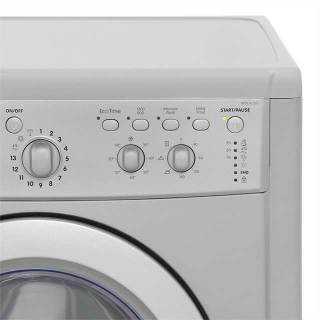 Indesit Eco Time IWDC6125 6Kg / 5Kg Washer Dryer - White - IWDC6125_WH - 4