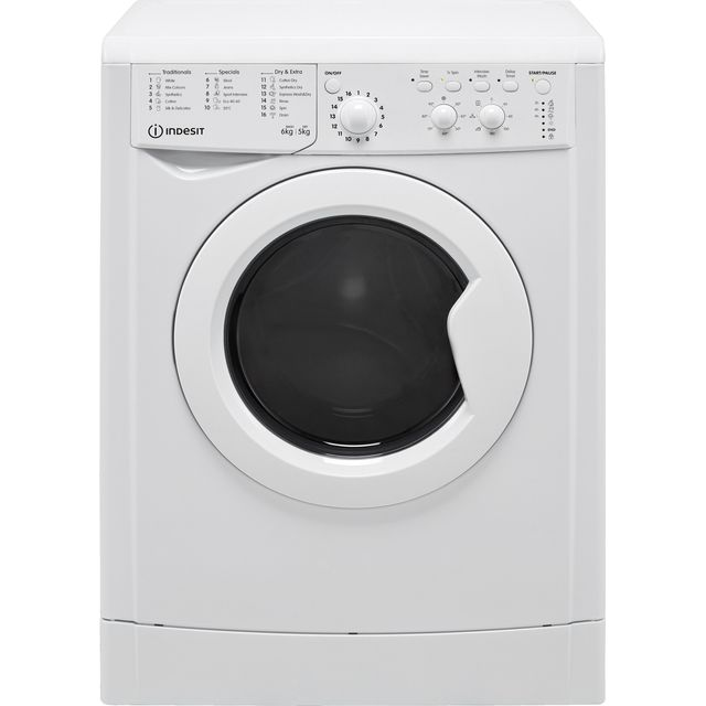 Indesit IWDC65125UKN 6Kg / 5Kg Washer Dryer with 1200 rpm - White - F Rated