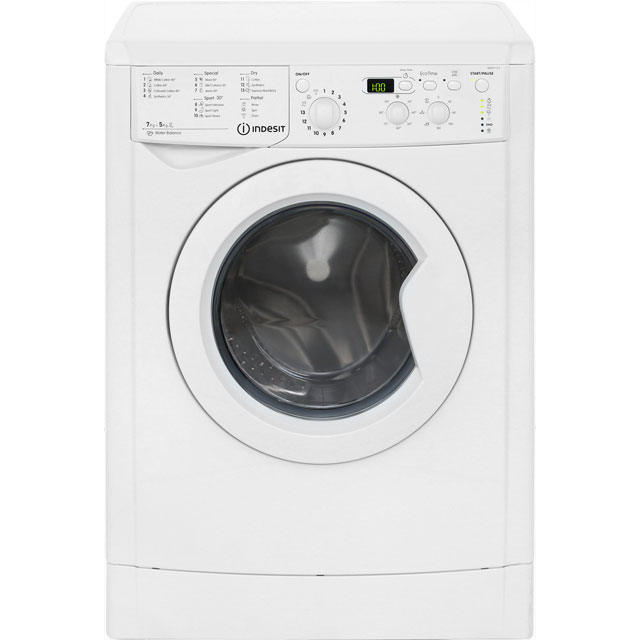 Indesit Advance IWDD7123 Free Standing Washer Dryer in White