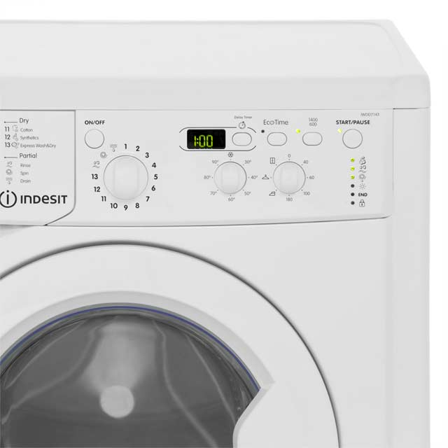 Indesit Eco Time IWDD7143 Washer Dryer - White - IWDD7143_WH - 4