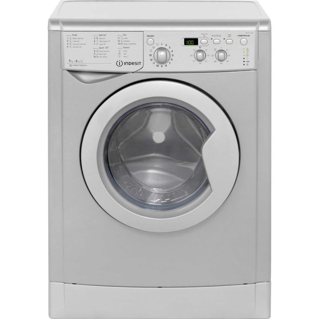 Indesit Eco Time IWDD7143S 7Kg / 5Kg Washer Dryer with 1400 rpm - Silver - B Rated