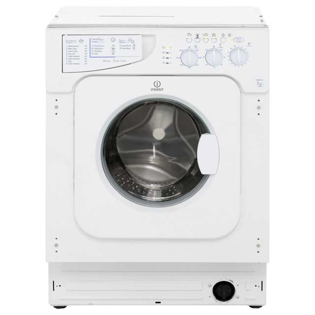 Indesit Eco Time IWME127 Integrated 7Kg Washing Machine with 1200 rpm - A+ Rated