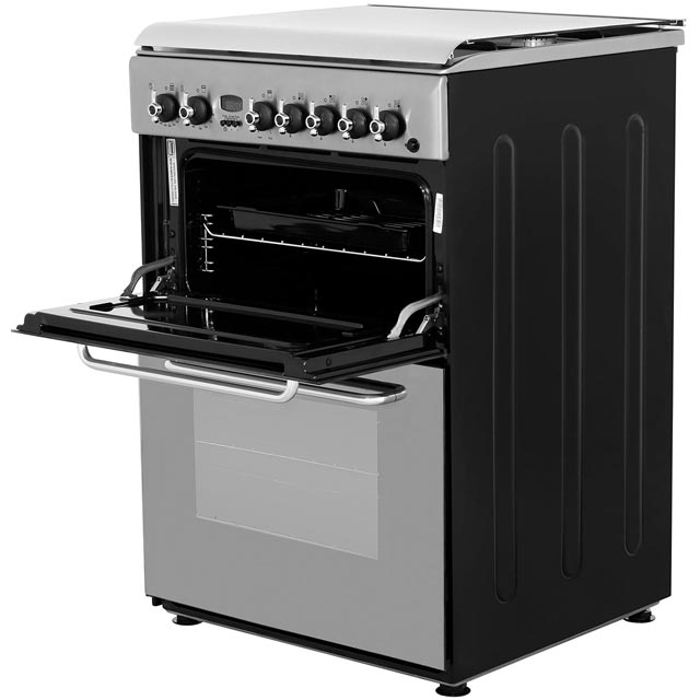 Indesit KDP60SES Dual Fuel Cooker - Stainless Steel - KDP60SES_SS - 2