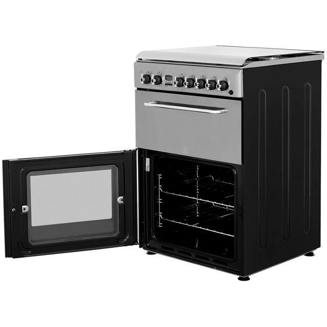 Indesit KDP60SES Dual Fuel Cooker - Stainless Steel - KDP60SES_SS - 3