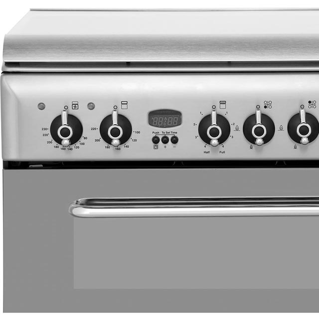 Indesit KDP60SES Dual Fuel Cooker - Stainless Steel - KDP60SES_SS - 4