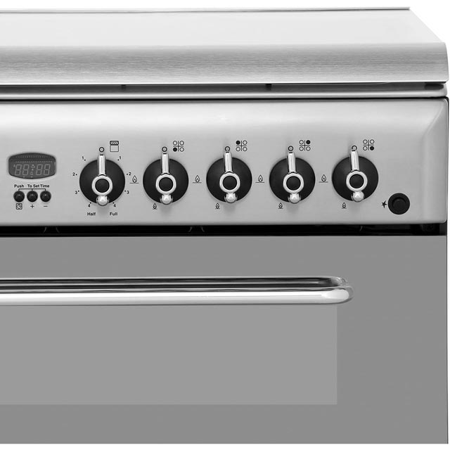 Indesit KDP60SES Dual Fuel Cooker - Stainless Steel - KDP60SES_SS - 5