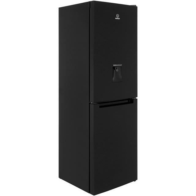 Indesit LD70N1KWTD Free Standing Fridge Freezer Frost Free in Black