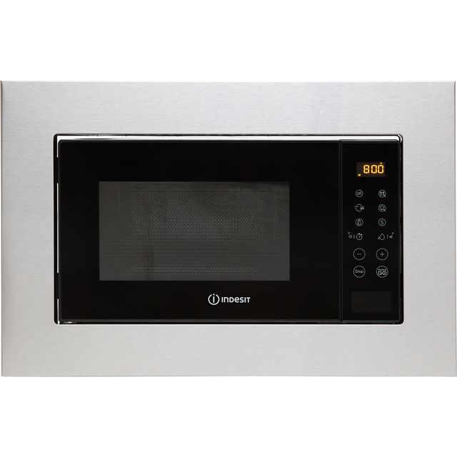 Indesit MWI120GXUK Built In Microwave With Grill - Stainless Steel - MWI120GXUK_SS - 1