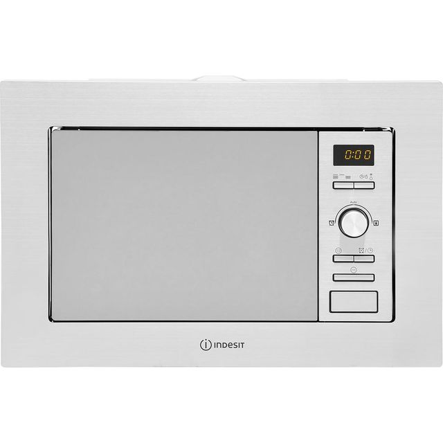 Indesit MWI122.2X Built In Microwave with Grill - Stainless Steel - MWI122.2X_SS - 1
