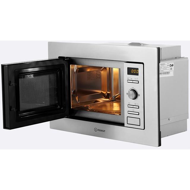 Indesit MWI122.2X Built In Microwave - Stainless Steel - MWI122.2X_SS - 3