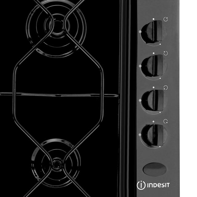 Indesit Aria PAA642/IWH Built In Gas Hob - White - PAA642/IWH_WH - 2