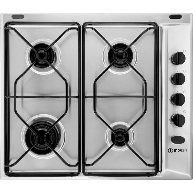 Indesit Aria 58cm Gas Hob - Stainless Steel