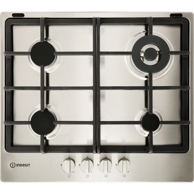 Indesit Aria THP641W/IX/I Built In Gas Hob - Stainless Steel - THP641W/IX/I_SS - 1