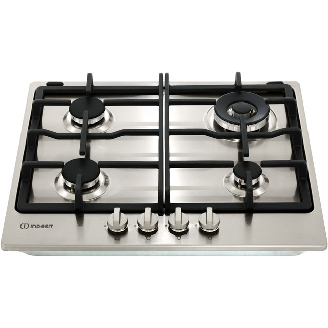 Indesit Aria THP641W/IX/I Built In Gas Hob - Stainless Steel - THP641W/IX/I_SS - 4