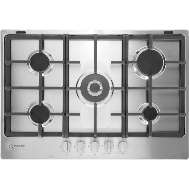 Indesit Aria THP751W/IX/I Built In Gas Hob - Stainless Steel - THP751W/IX/I_SS - 1