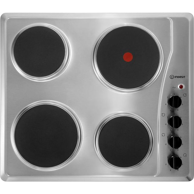 Indesit 58cm Solid Plate Hob - Stainless Steel