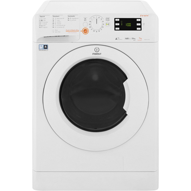 Indesit Innex XWDE1071681XW 10Kg / 7Kg Washer Dryer with 1600 rpm - White - XWDE1071681XW_WH - 1