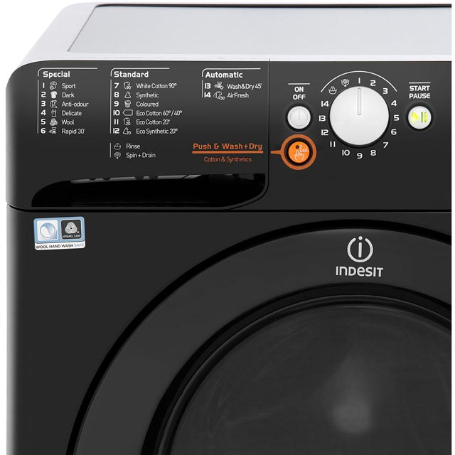 Indesit Innex XWDE751480XW Washer Dryer - White - XWDE751480XW_WH - 3