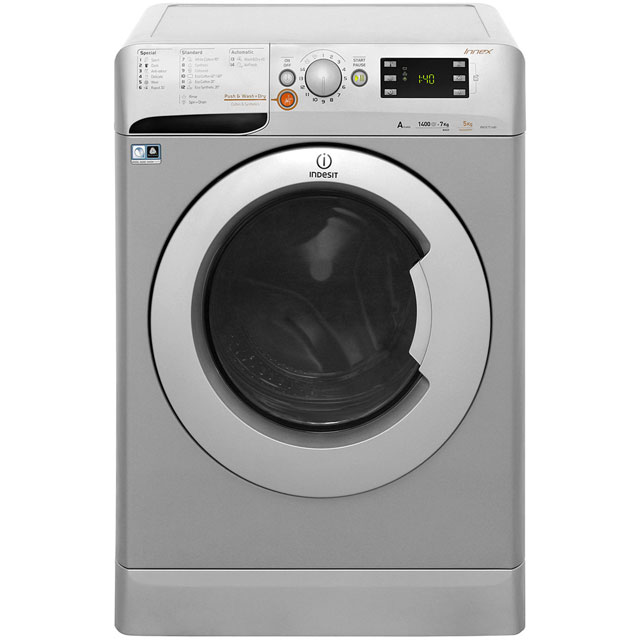 Indesit Innex XWDE751480XS 7Kg / 5Kg Washer Dryer with 1400 rpm - Silver - A Rated