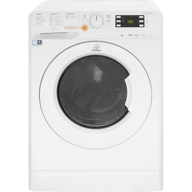 Indesit Innex XWDE751480XW 7Kg / 5Kg Washer Dryer with 1400 rpm - White - A Rated - XWDE751480XW_WH - 1