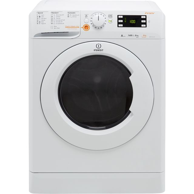 Indesit XWDE861480XWUK 8Kg / 6Kg Washer Dryer with 1400 rpm - White - A Rated