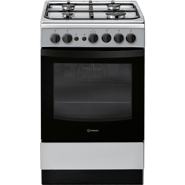 Indesit Cloe IS5G1PMSS Gas Cooker - Stainless Steel - A Rated - IS5G1PMSS_SS - 1