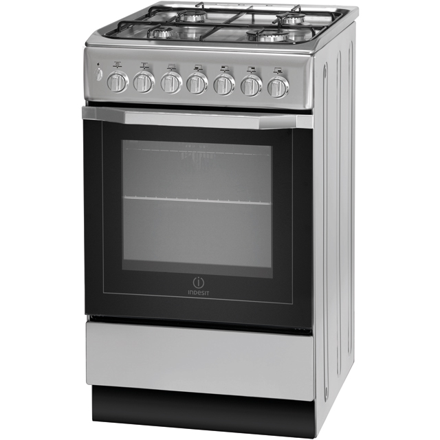 Indesit Cloe IS5G4PHX 50cm Gas Cooker - Stainless Steel - A Rated - IS5G4PHX_SS - 1