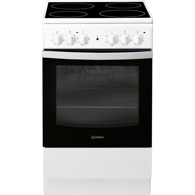 Indesit Cloe IS5V4KHW 50cm Electric Cooker with Ceramic Hob - White - A Rated - IS5V4KHW_WH - 1