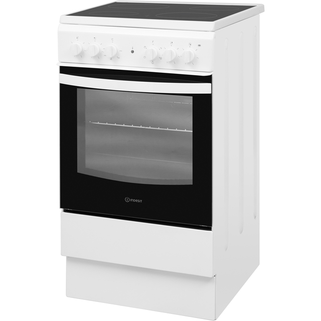 Indesit Cloe IS5V4KHW Electric Cooker - White - IS5V4KHW_WH - 2