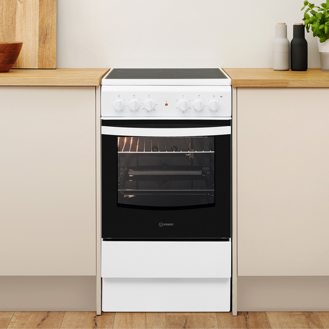 Indesit Cloe IS5V4KHW Electric Cooker - White - IS5V4KHW_WH - 5