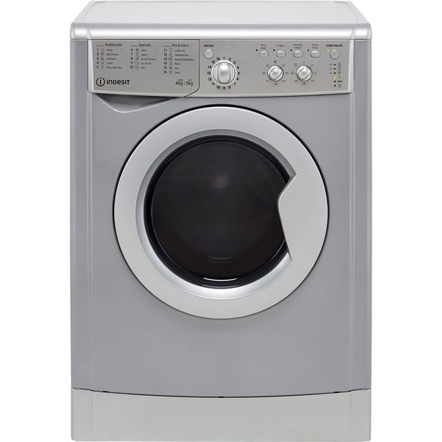 Indesit IWDC65125SUKN 6Kg / 5Kg Washer Dryer with 1200 rpm - Silver - F Rated