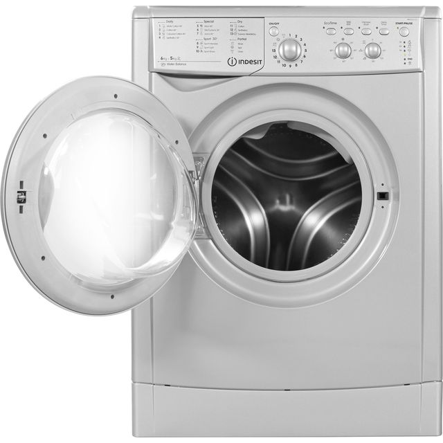 Indesit IWDC65125SUKN 6Kg / 5Kg Washer Dryer with 1200 rpm - Silver - B Rated