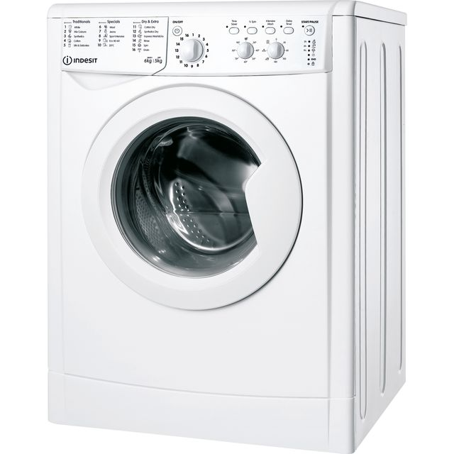 Indesit IWDC65125UKN 6Kg / 5Kg Washer Dryer with 1200 rpm - White - IWDC65125UKN_WH - 1