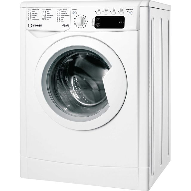 Indesit IWDD75145UKN 7Kg / 5Kg Washer Dryer with 1400 rpm - White - B Rated
