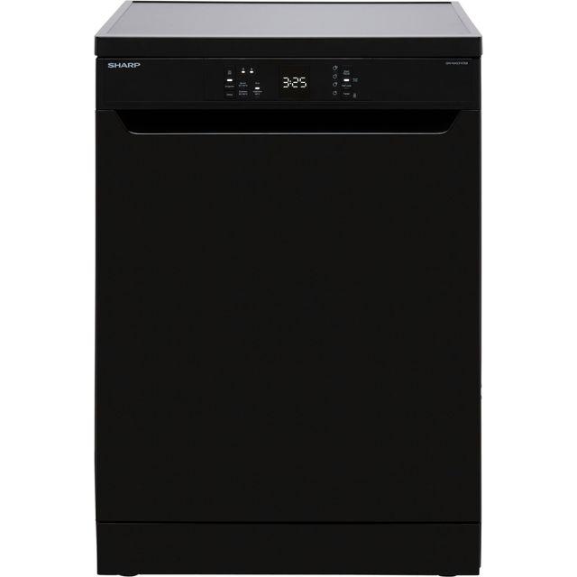 Sharp QW-NA1CF47EB-EN Standard Dishwasher - Black - E Rated
