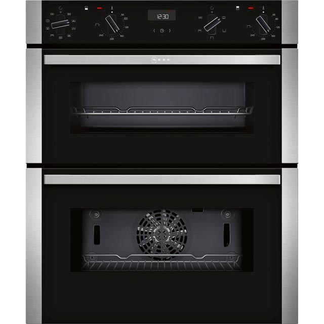 NEFF N50 J1ACE2HN0B Built Under Double Oven - Stainless Steel - A/B Rated