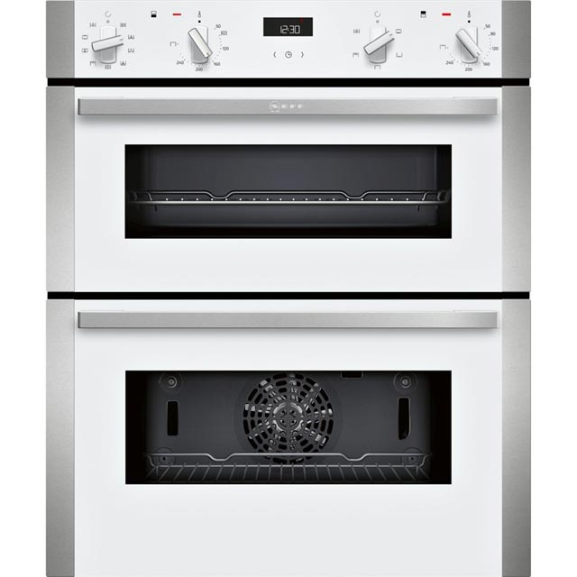 NEFF N50 J1ACE2HW0B Built Under Double Oven - White - A/B Rated - J1ACE2HW0B_WH - 1