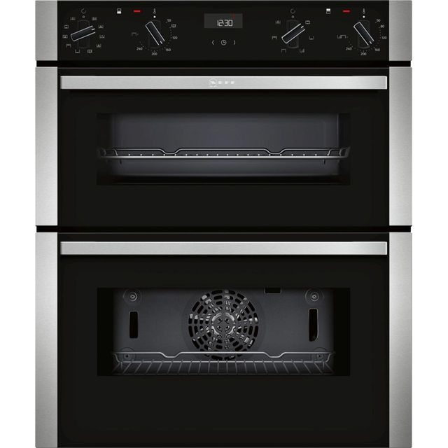 NEFF N50 J1ACE4HN0B Built Under Electric Double Oven - Stainless Steel - J1ACE4HN0B_SS - 1