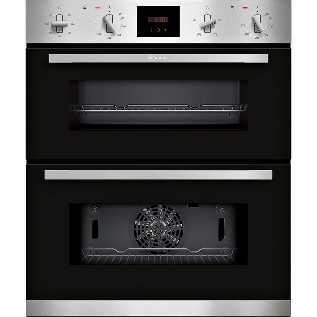 NEFF N30 J1GCC0AN0B Built Under Electric Double Oven - Stainless Steel - J1GCC0AN0B_SS - 1