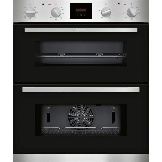 NEFF J1HCC0AN0B Built Under Double Oven - Stainless Steel - A/B Rated